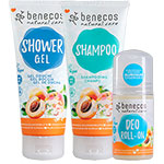 benecos apricot and elderflower shower set