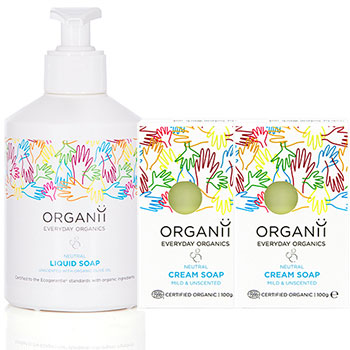 organii neutral liquid soap and neutral cream soap set