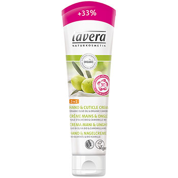 lavera hand & cuticle cream 33% extra free