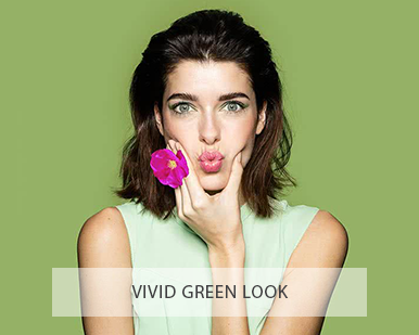 Lavera Organic and Natural Make Up - Vivid Green Look