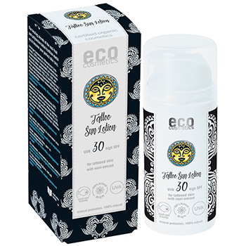 Eco Cosmetics Tattoo Sun Lotion SPF30 Sun Protection
