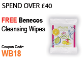 Spend Over £40 Free Benecos Organic Wipes