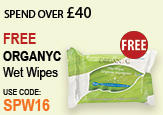 Free Beauty Spend Over £40 Free Organyc Wet Wipes