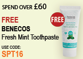 Free beauty spend over £60 Benecos Toothpaste