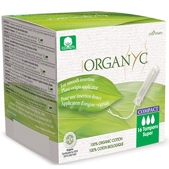 Organyc Organic Compact Tampons Super Applicator Tampons