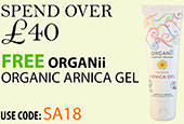 Free Beauty Spend Over £40 Free Organii Arnica Gel