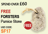 Free beauty spend over £60 - FREE Forsters Pumice Stone