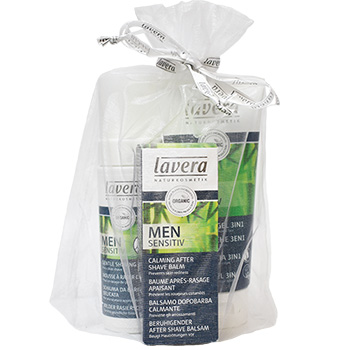 Lavera Men Cleanse and Shave Gift Set Organic Skincare for Men Gifts
