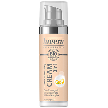Lavera Organic Tinted Moisturising Cream 3 in 1 Ivory Light Q10