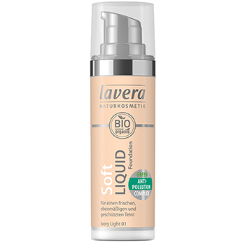 Lavera Soft Liquid Foundation Ivory Light Anti-Pollution Foundation