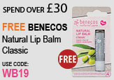 Free beauty gift Spend Over £30 Free benecos natural lip balm classic
