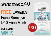 Free Beauty Spend Over £40 Free Lavera Basis Sensitive Mask
