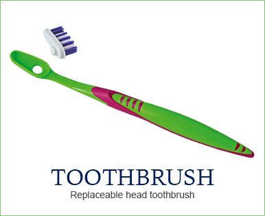 Yaweco eco friendly dental care - toothbrush, replaceable heads, dental floss