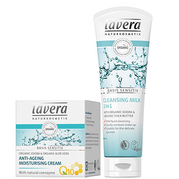 Lavera Basis 2 in 1 Cleansing Milk with Anti-Ageing Moisturising Cream