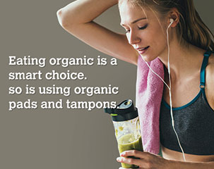 ORGANYC 100% Organic Cotton Tampons and Sanitary pads