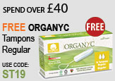 Free Beauty Spend Over £40 Free ORGANYC tampons regular