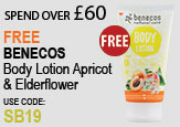 Free beauty spend over £60 - FREE Benecos Apricot and Elderflower Body Lotion