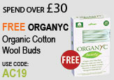 Free beauty gift Spend Over £30 Free Organyc Plastic Free Cotton Buds