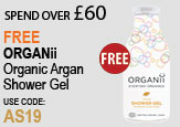 Free beauty spend over £60 - FREE Organii Argan Shower Gel