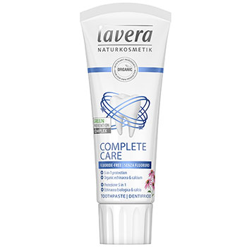 Lavera Organic Toothpaste Complete Care Fluoride Free Toothpaste