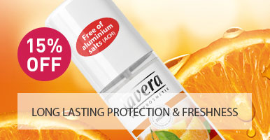 Lavera Natural and Organic Skin Care - 15% OFF Deodorant Spray Orange and Sea Buckthorn