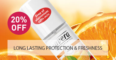 Lavera Natural and Organic Skin Care - 20% OFF Deodorant Spray Orange and Sea Buckthorn
