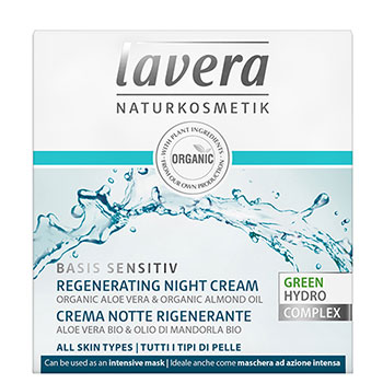 Lavera Regenerating Night Cream Organic Night Cream Basis Sensitiv