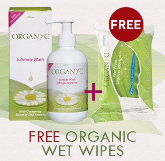 ORGANYC 100% Organic Cotton - Intimate Wash & Wet Wipes