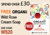 Free beauty gift Spend Over £30 Free Organii Rose Cream Soap