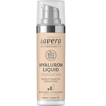 Lavera Hyaluron Liquid Foundation Ivory Light Organic Foundation