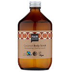 Fair Squared Coconut Body Scrub in a Zero Waste Glass Bottle