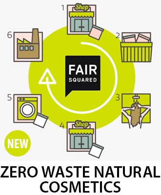 Fair Squared 100% Natural, Organic and Fair Trade Skin Care Products - NEW Zero Waste Natural Cosmetics