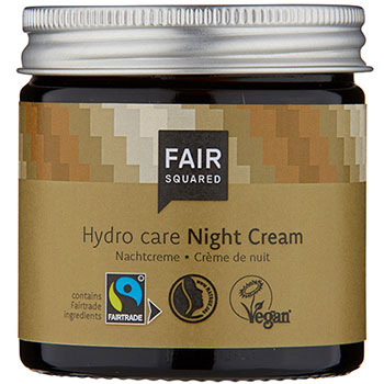 Fair Squared Night Cream Argan Zero Waste Plastic Free Glass Jar