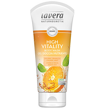 Lavera Body Wash High Vitality Orange and Mint Organic Body Wash