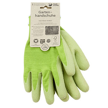 Fair Zone Gardening Gloves Fair Trade Rubber Plastic Free