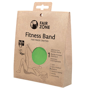 Fair Zone Fitness Band Green Resistance Straps Fair Trade Pravera