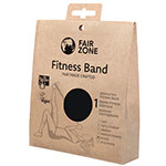 Fair Zone Fitness Band Black Resistance Band Fair Trade Rubber