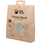 Fair Zone Fitness Band Silver Rubber Band Exercise Fair Trade