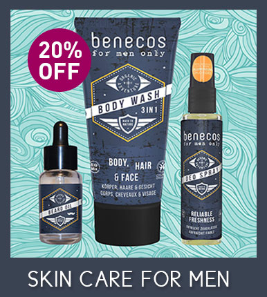 Benecos natural beauty Special Offer 20% OFF Men's Skincare