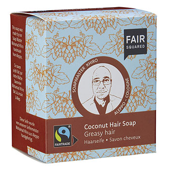 Fair Squared Coconut Hair Soap for Greasy Hair Shampoo Soap Bar
