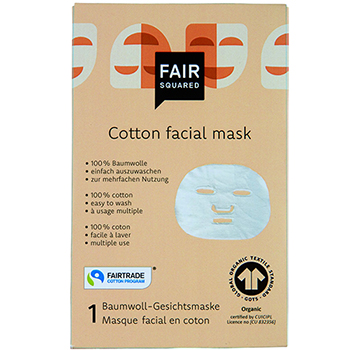 Fair Squared Cotton Facial Mask Organic Cotton fairtrade Cotton