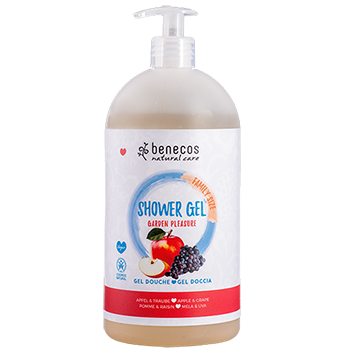 Benecos natural Shower Gel Apple and Grape Family Size available from pravera