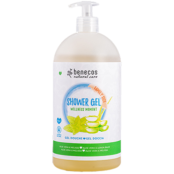 Benecos Natural Shower Gel Wellness Moment Aloe Vera and Lemon Balm