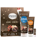 Benecos Ciao Cocoa Skincare Gift Set Vegan Natural Skincare includes Shower Gel, Hand Cream and Lip
