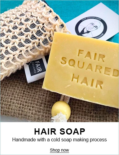 Fair Squared 100% Natural Fairtrade Hair Care - Natural Shampoo Hair Soap