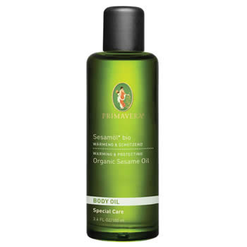 primavera life body oil, sesame base oil 100ml organic
