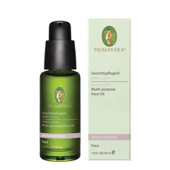 primavera life moisturising face care neroli cassis, multi-purpose face oil 30ml organic