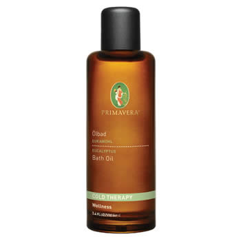 primavera life cold therapy eucalyptus bath oil 100ml organic