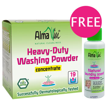 alma win special offer washing powder concentrate with free trail size laundry scent