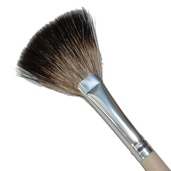 Kost Kamm - Brushes made from natural material - Make up brush - fan shape brush